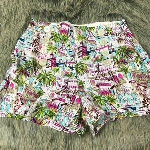 J. Crew High Waisted Sailor Front Shorts